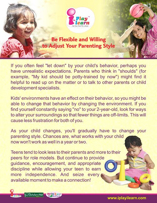 Parenting Tips_Be Flexible