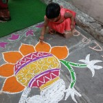 rangoli design on pongal
