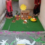 rangoli design in preschool